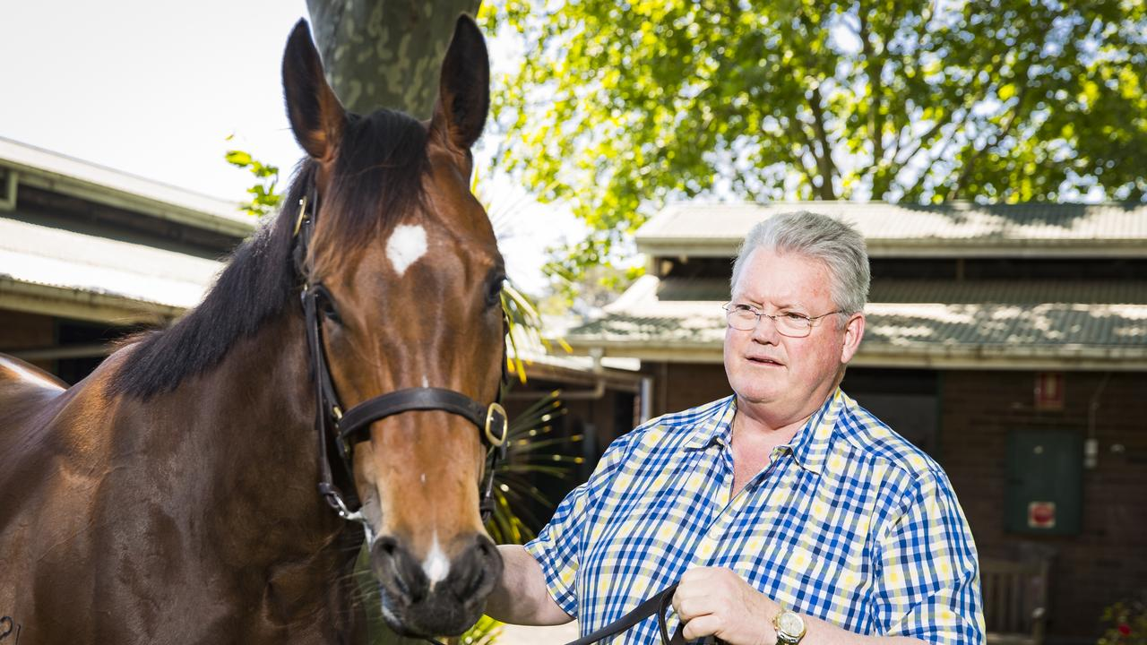 Anthony Cummings (picturted with stable star Libertini) looks to have an improving filly in Kahawaty.