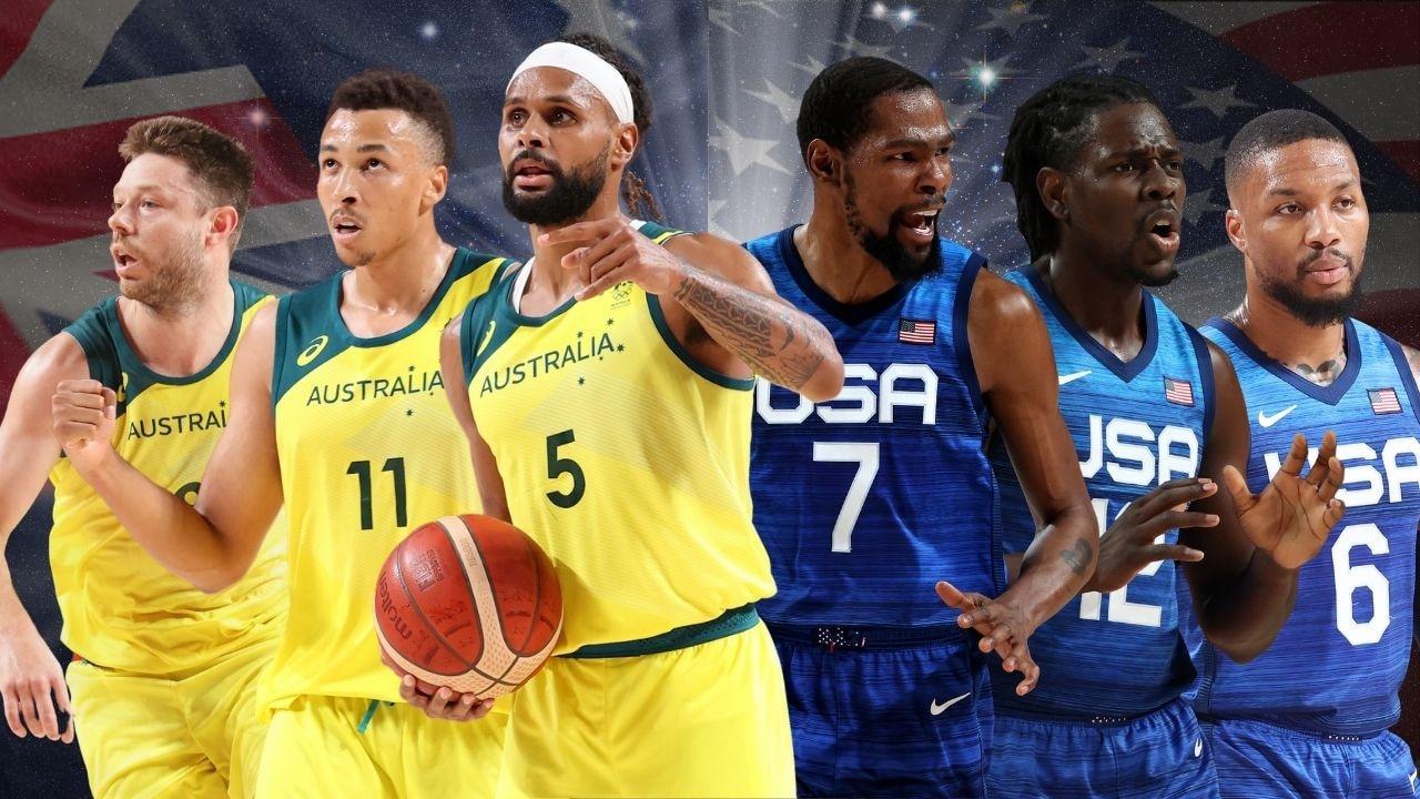 Matthew Dellavedova, Dante Exum and Paddy Mills of Australia will take on Kevin Durant, Jrue Holiday and Damian Lillard of Team USA.