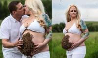 Pregnant woman slammed for risky photoshoot