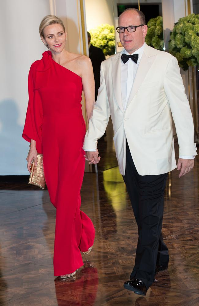Princess Charlene and Prince Albert. Picture: Stephane Cardinale/Corbis via Getty Images