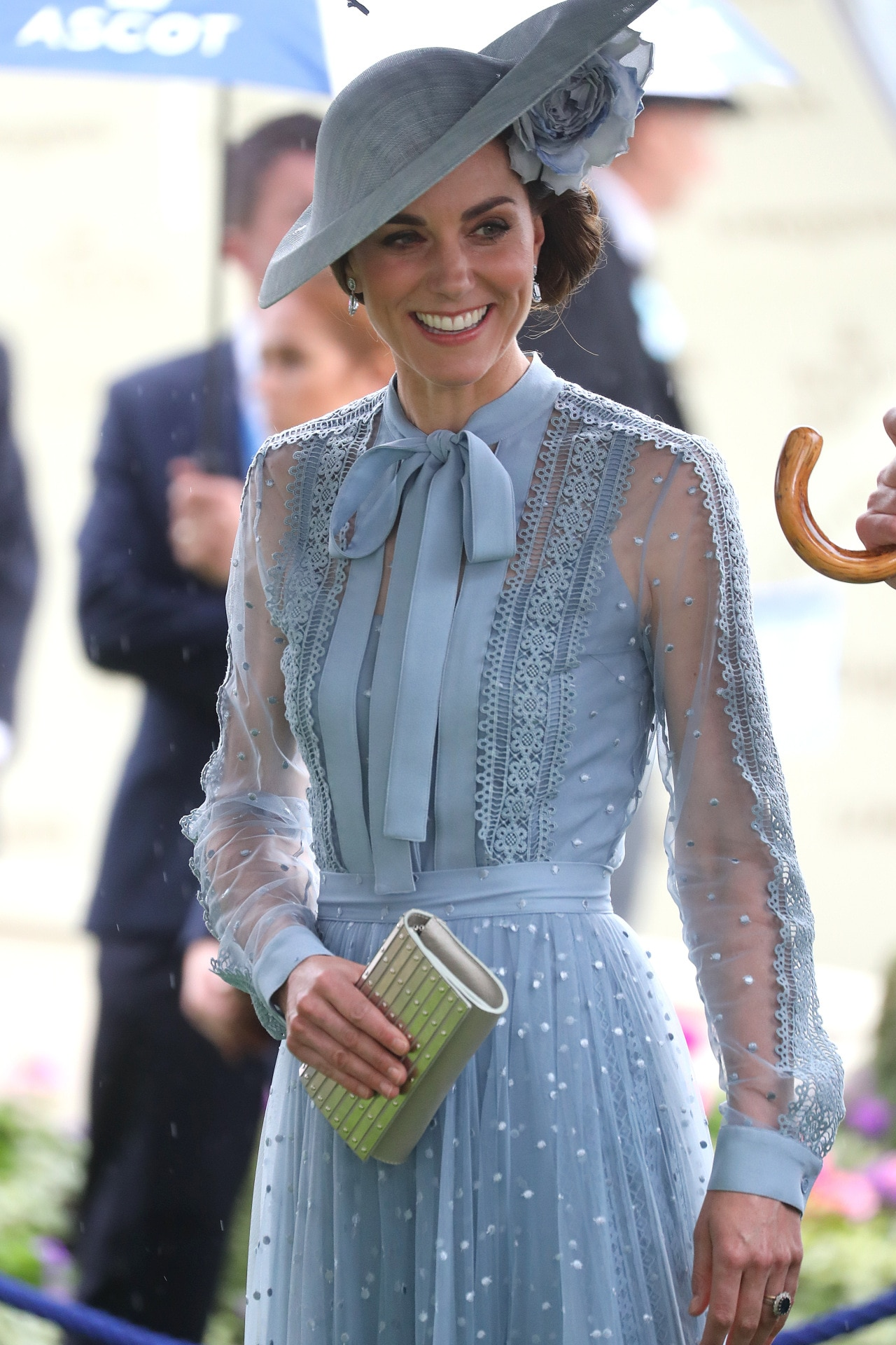 Kate Middleton led the blue trend in Elie Saab at Royal Ascot 2019