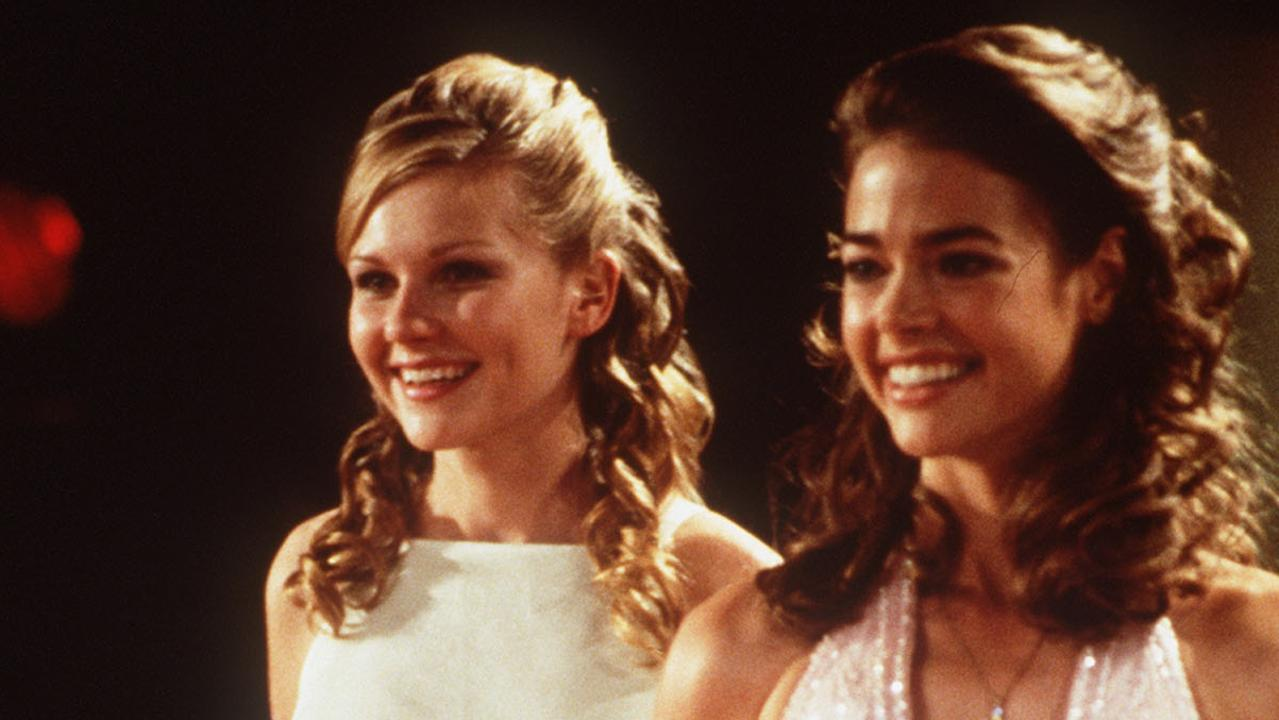 Dunst (left) and Denise Richards in the 1999 Drop Dead Gorgeous, another black comedy about Middle America.