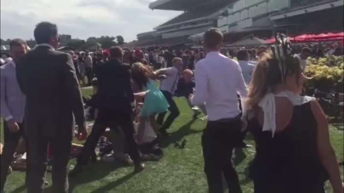 Was this the biggest brawl of the Melbourne Cup?