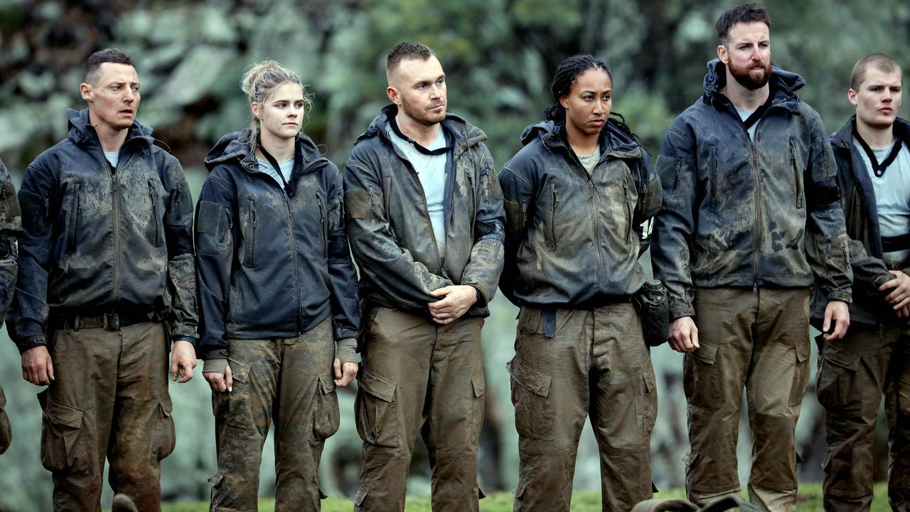 Merrick and other contestants on SAS Australia. Picture: Nigel Wright