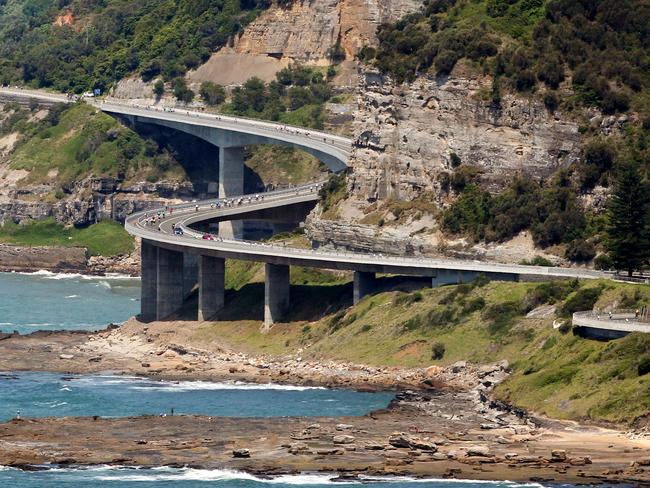 The amazing Sea Cliff Bridge on between Stanwell Park and Scarborough, north of Wollongong. Picture: Nic Gibson