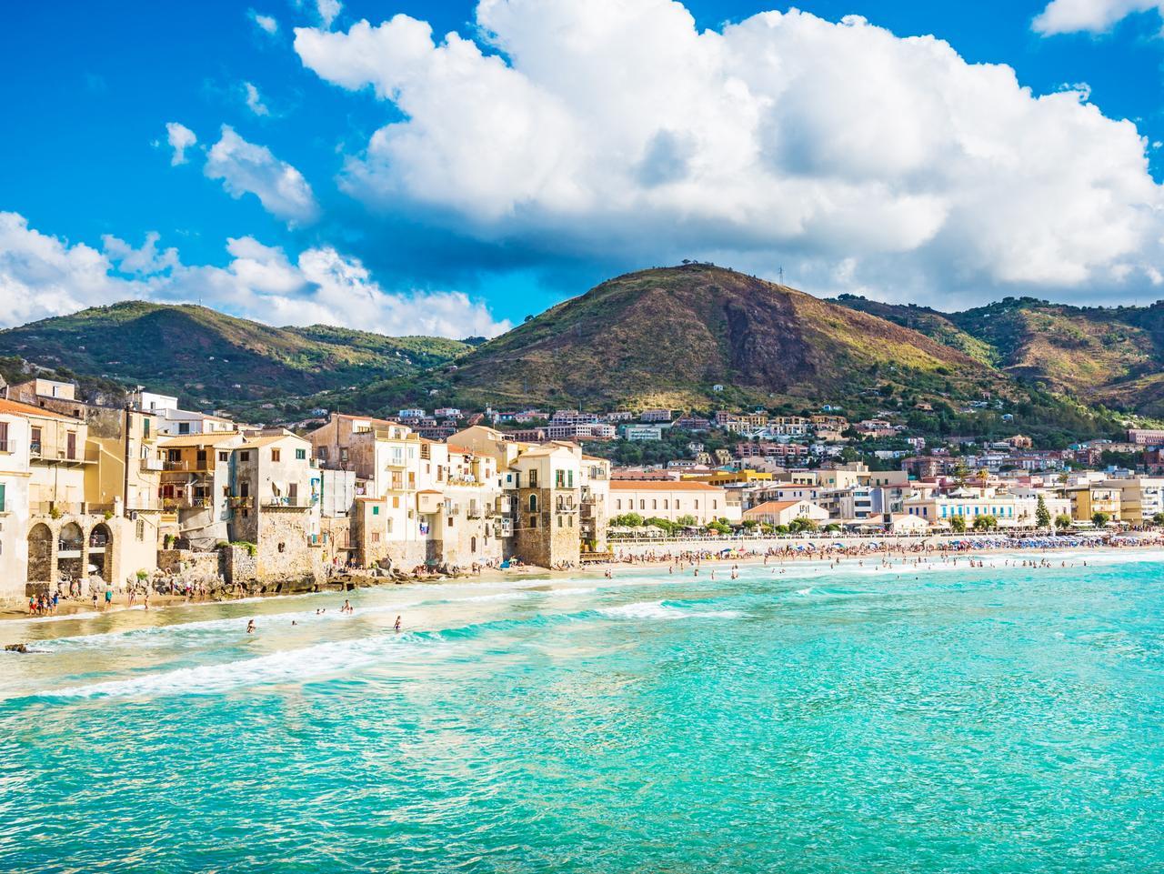 Cefalu panoramic view, Sicily,Italy.