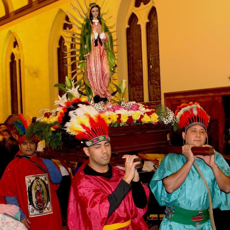 Church festivities around the Fiest of Our Lady of Guadalupe