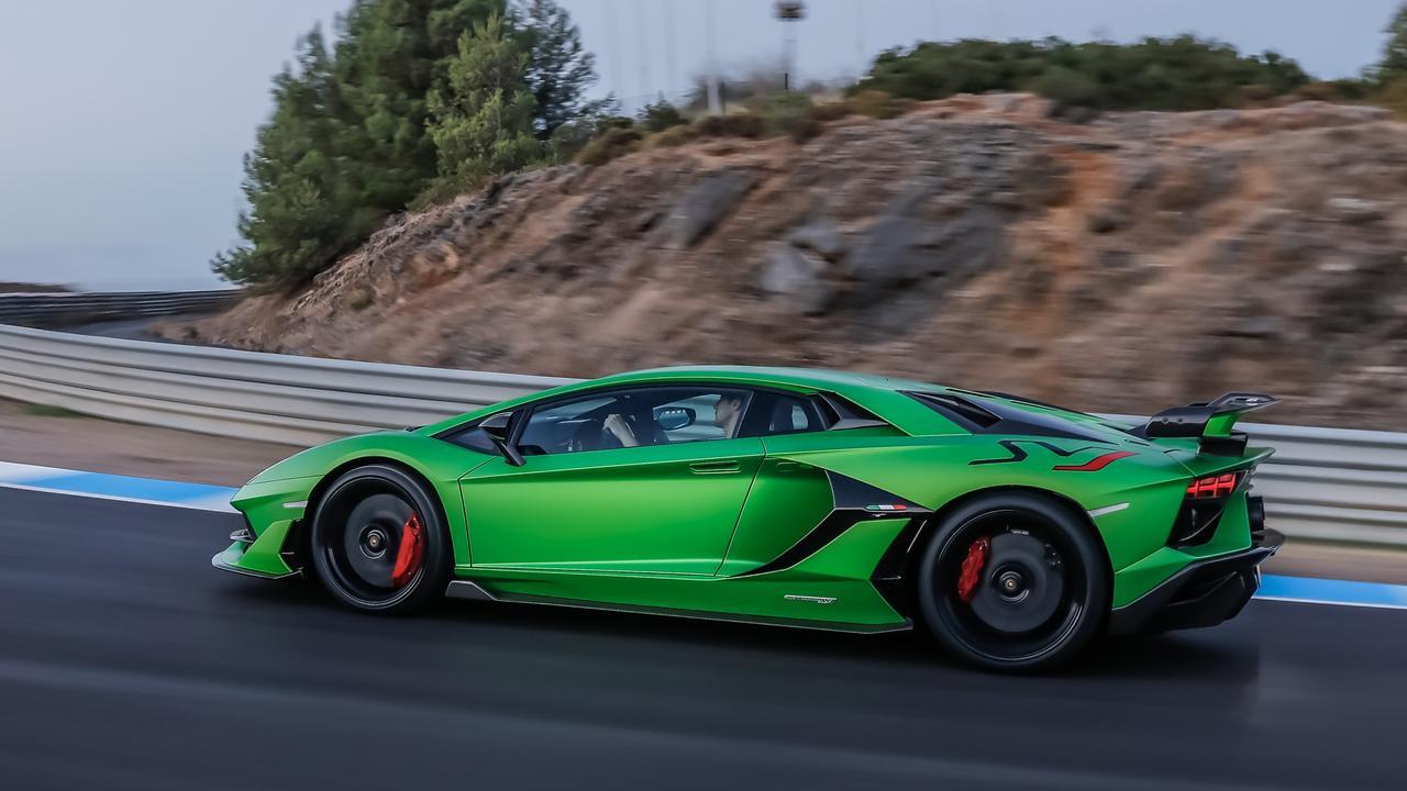 Stopping power: The Aventador sports enormous carbon ceramic brakes.