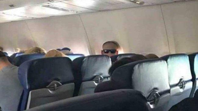 """""""I thought this man staring at me was a psychopath, until I realised he had his sunglasses on the back of his head""""."""