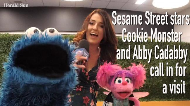 Sesame Street stars Cookie Monster and Abby Cadabby call in for a visit