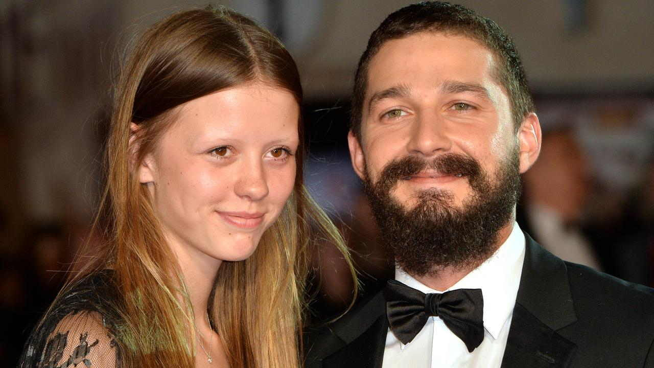 Mia Goth and Shia LaBeouf met on the set of Nymphomaniac: Vol. II. Picture: Getty Images