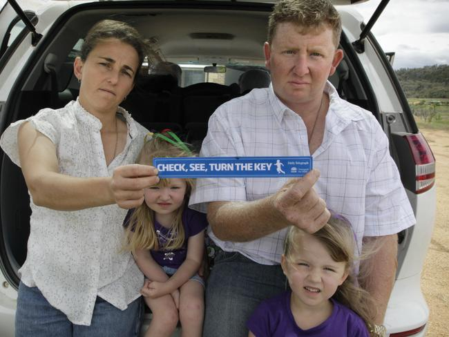 Peter and Emma Cockburn hope to raise awareness about driveway safety following the death of their daughter, Georgina.