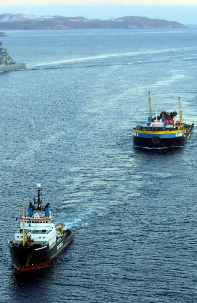 Ships in the Barents Sea.