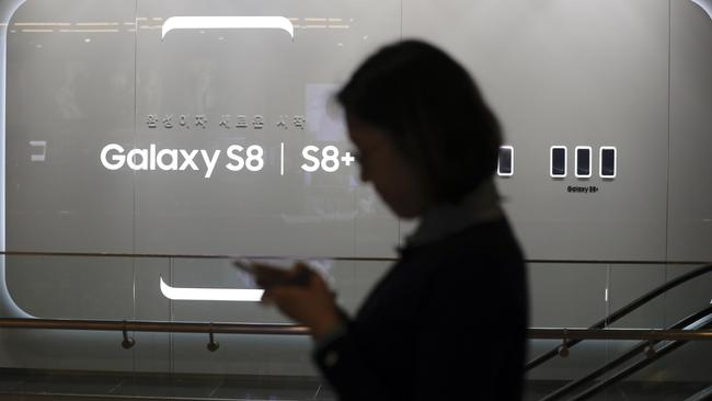 The new Galaxy S8's smarty assistant won't initially be available in Australia. Picture: AP Photo