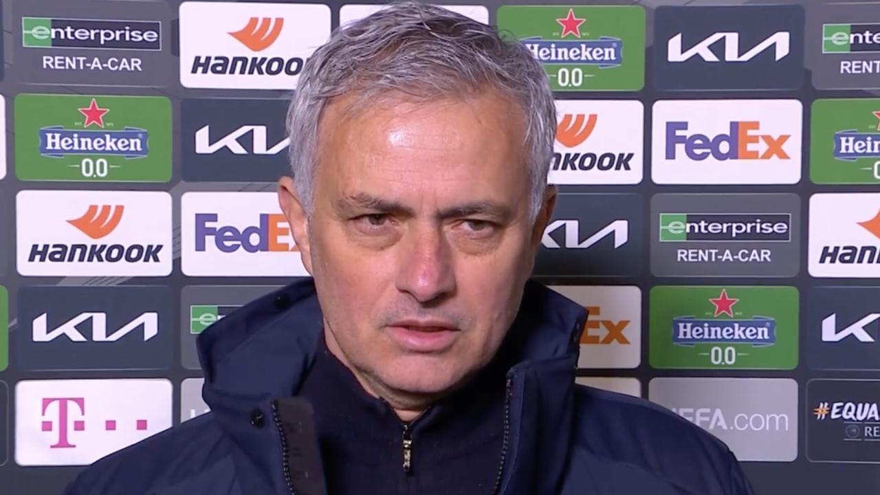 Jose Mourinho's emotional interview at Spurs' loss.