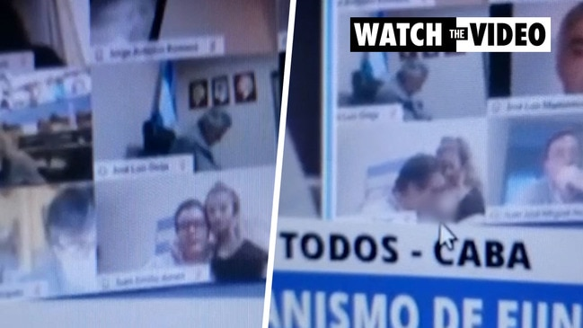 Argentinian politician 'ashamed' after he sucks woman's breast on Zoom meeting