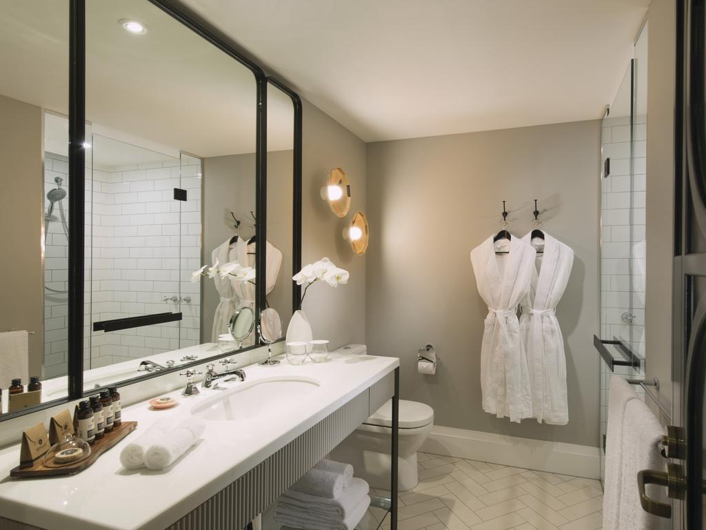 Plush robes and delicious bathroom products … it's time to bring a little five-star hotel luxury into your home. Picture: Mayfair Hotel, Adelaide.