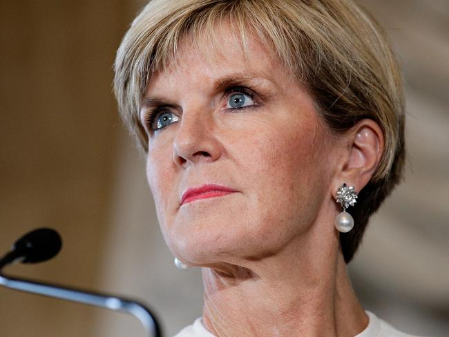Foreign Affairs Minister Julie Bishop has ruled out challenging Mr Abbott for the prime ministership. Picture: Getty Images