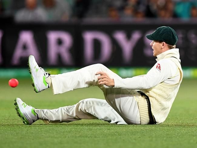 Smith's hands let him down.