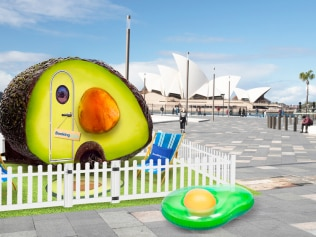 Yes, you can now sleep in an avocado. Image: Supplied. Booking.com.