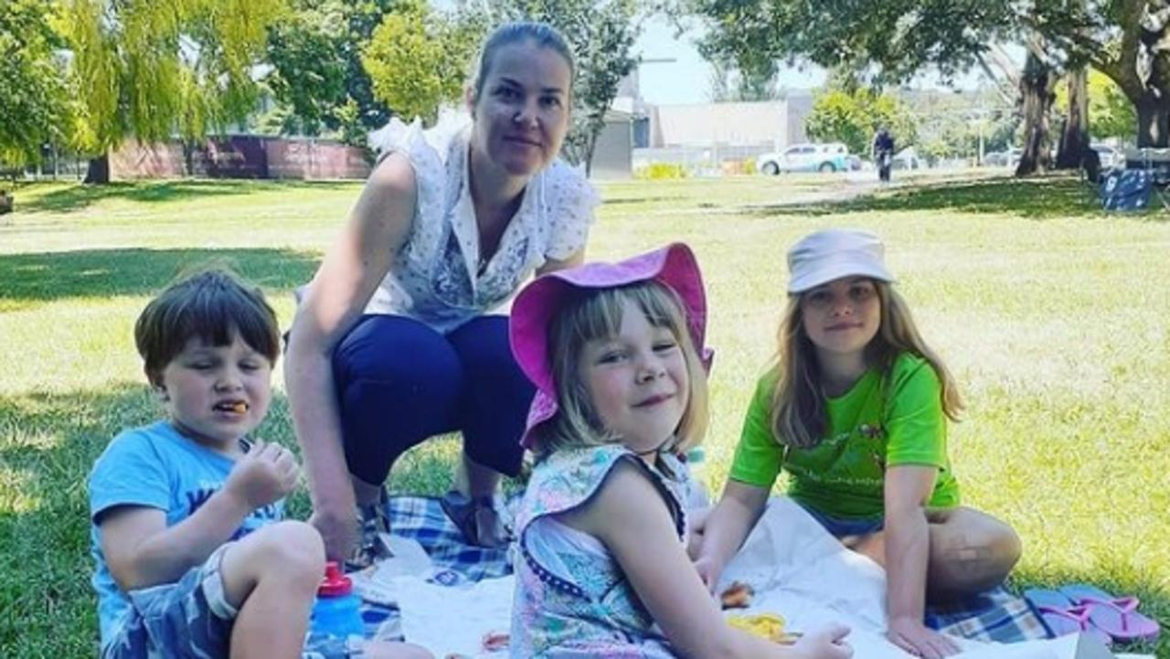 The bodies of Katie Perinovic, 42, and daughters Claire, 7, and Anna, 5, and son Matthew, 3, were found in their Tullamarine house on January 14. Picture: Supplied