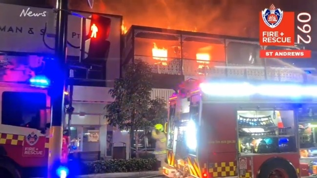 Historic building catches fire in Camden