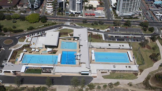 Aerials Gold Coast: Southport Aquatic centre. Picture Mike Batterham