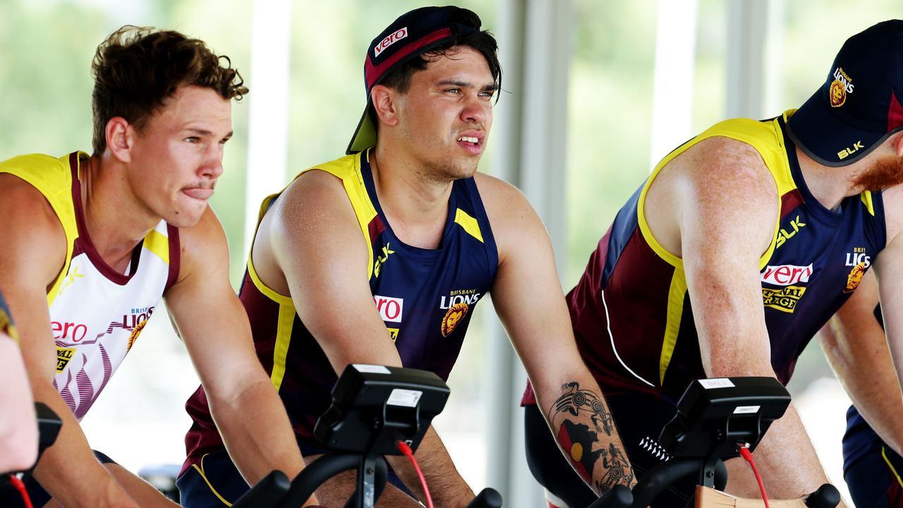 Brisbane Lions training at Yeronga. Allen Christensen. Pic Mark Calleja