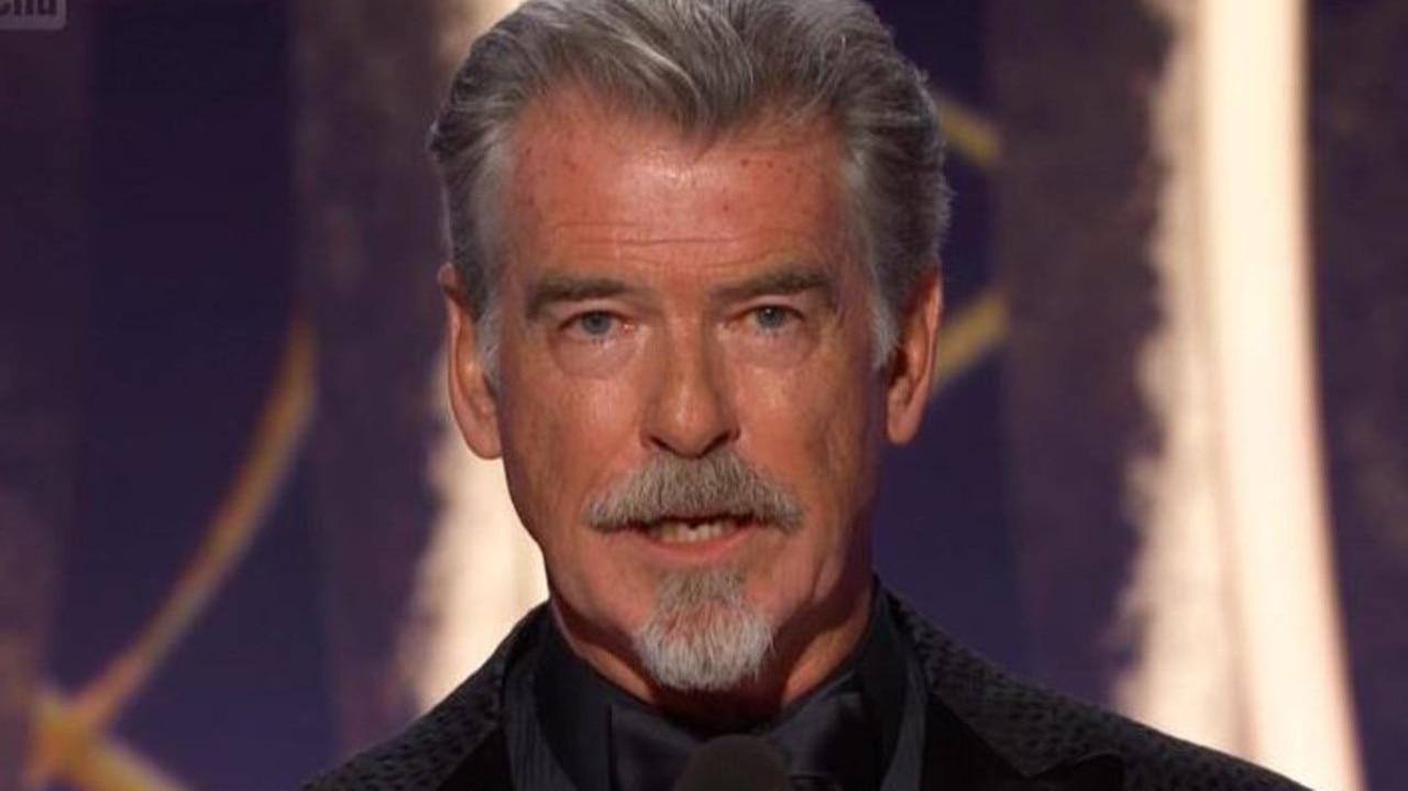 Pierce Brosnan speaks about Australian bushfires at the Golden Globes. Picture: Foxtel.
