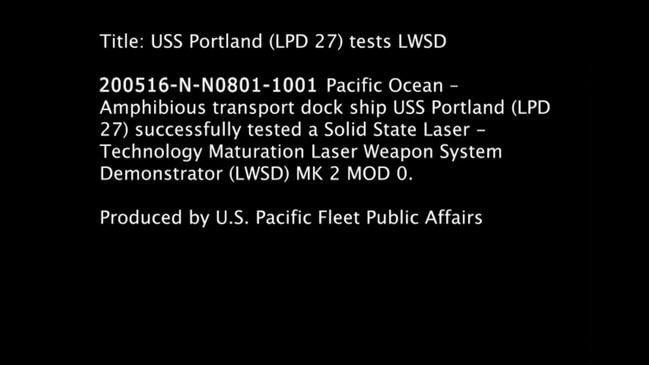 US Navy Disables Drone With High-Powered Laser