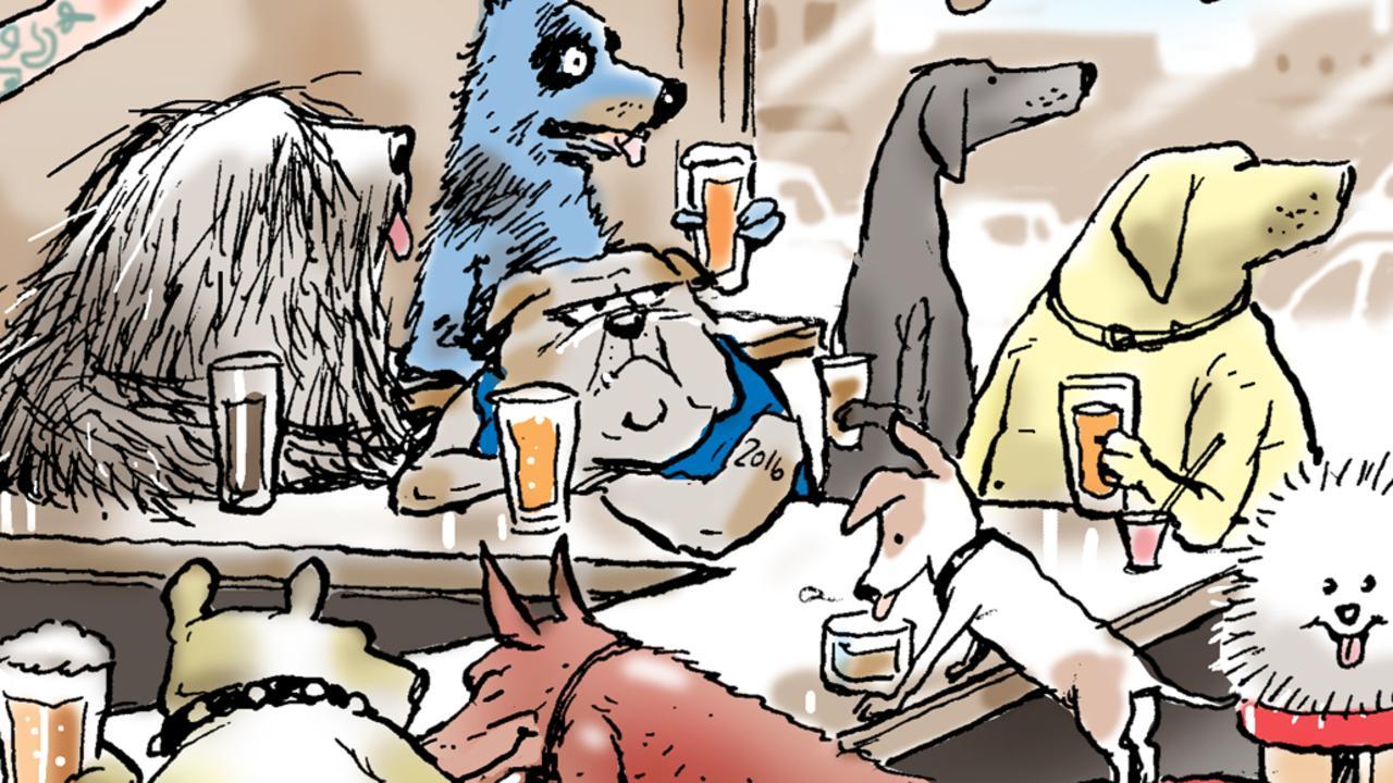 Part of Mark Knight's dog cartoon,