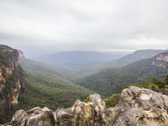 WENTWORTH FALLS, BLUE MOUNTAINS: Take the Wentworth Falls Track to get an eyeful of the Jamison Creek Cascades of the Jamison Valley, as well as the Wentworth Falls. Picture: Destination NSW