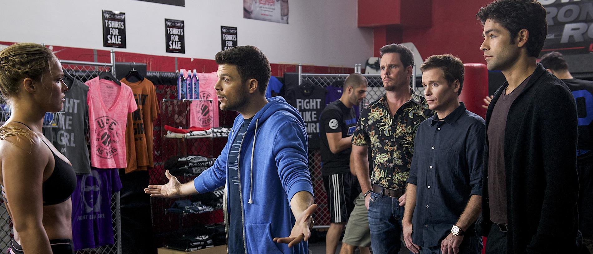 Big hit ... UFC star Ronda Rousey made a cameo appearance in Entourage. Picture: HBO