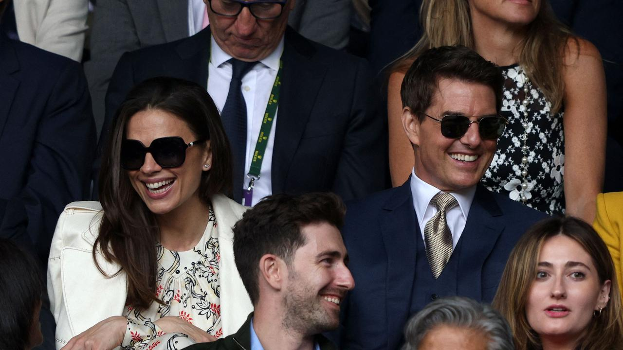 The pair were spotted looking happy while watching the women's singles final at Wimbledon. Picture: Adrian Dennis / AFP.