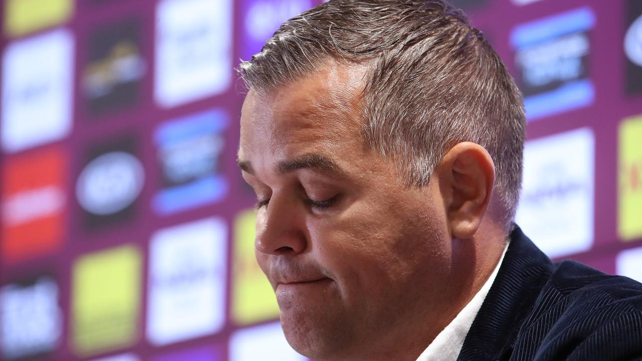 Anthony Seibold steps down as coach of the Broncos.