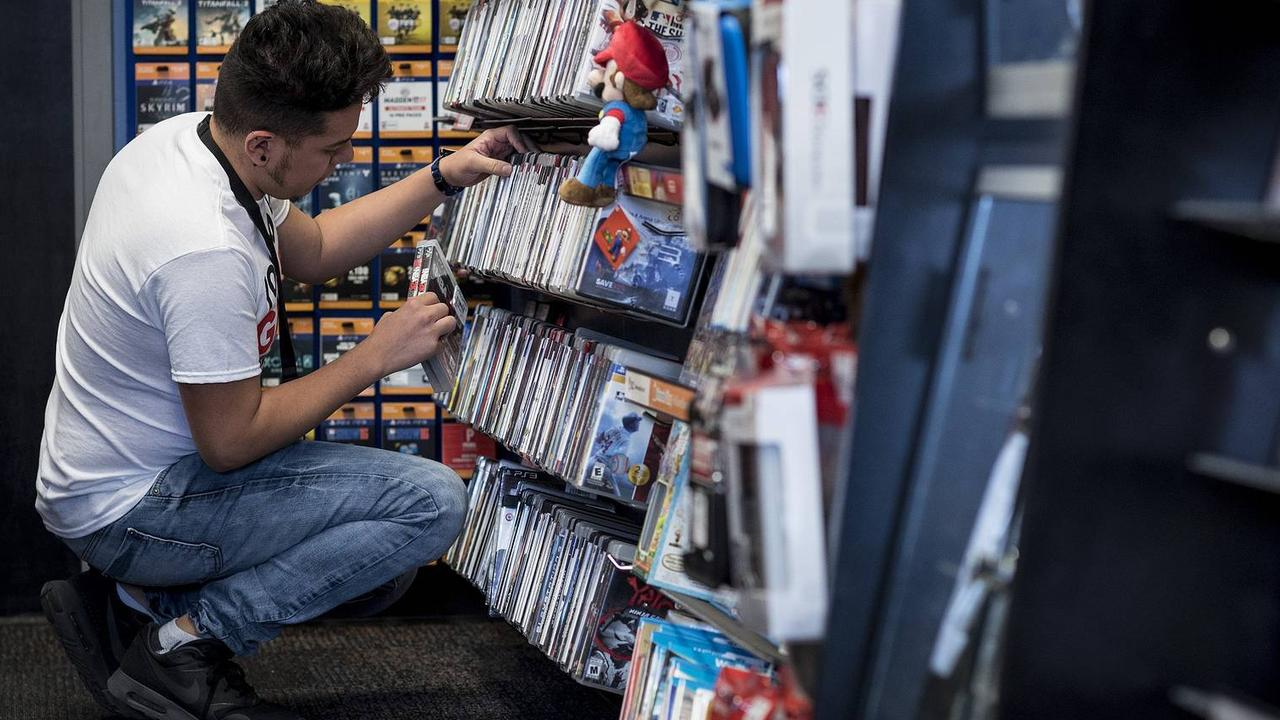 GameStop shares are soon to coming crashing down. Picture: Bloomberg News