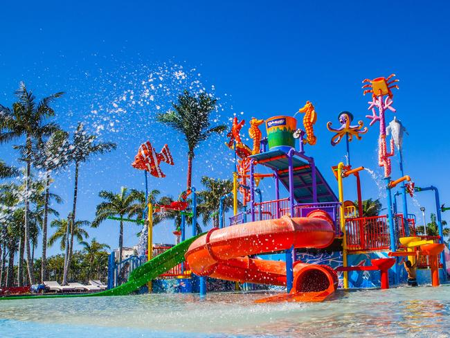 OAKS OASIS RESORT, SUNSHINE COAST With slides, fountains, splash zones and activities for children under 12, Oaks Oasis water park ticks all the boxes. When you want to escape the splash park, there's a cool outdoor area for parents with a cafe and shaded relaxation. oakshotelsresorts.com  PRICE: See website  OPENING HOURS: 7am — 9pmLOCATION: 2 Landsborough Parade, Caloundra QLD