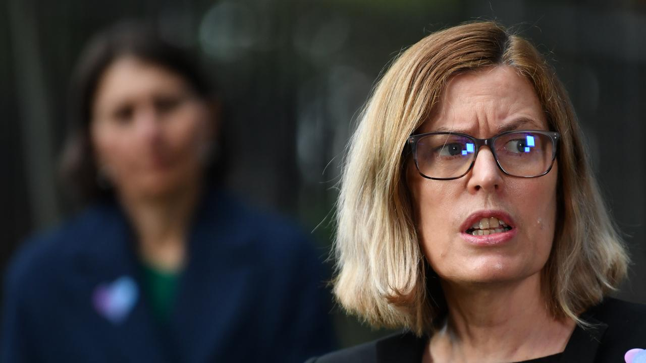 NSW chief medical officer Dr Kerry Chant speaks to the media during a press conference in Sydney on Tuesday. Picture: AAP