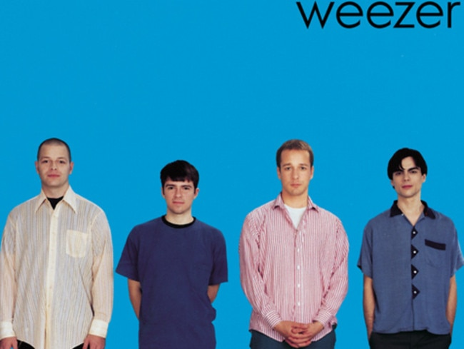Instant anthems ... The self-titled debut Weezer record also known as The Blue Album.