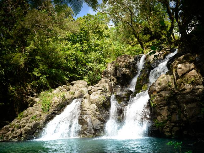 WATERFALLS Natural beauty is all around you in Fiji, and there's something majestic about finding a cascading waterfall in the middle of stunning rainforest. Swim in the rock pools, enjoy the soothing water, and connect with the stunning environment around you.