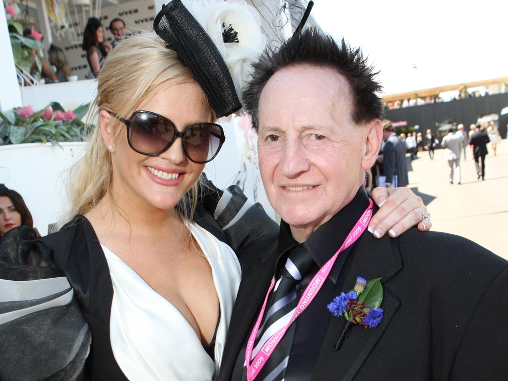 Brynne Gordon and Dr Geoffrey Edelsten at 2009 AAMI Victoria Derby Day at Flemington Racecourse in Melbourne.