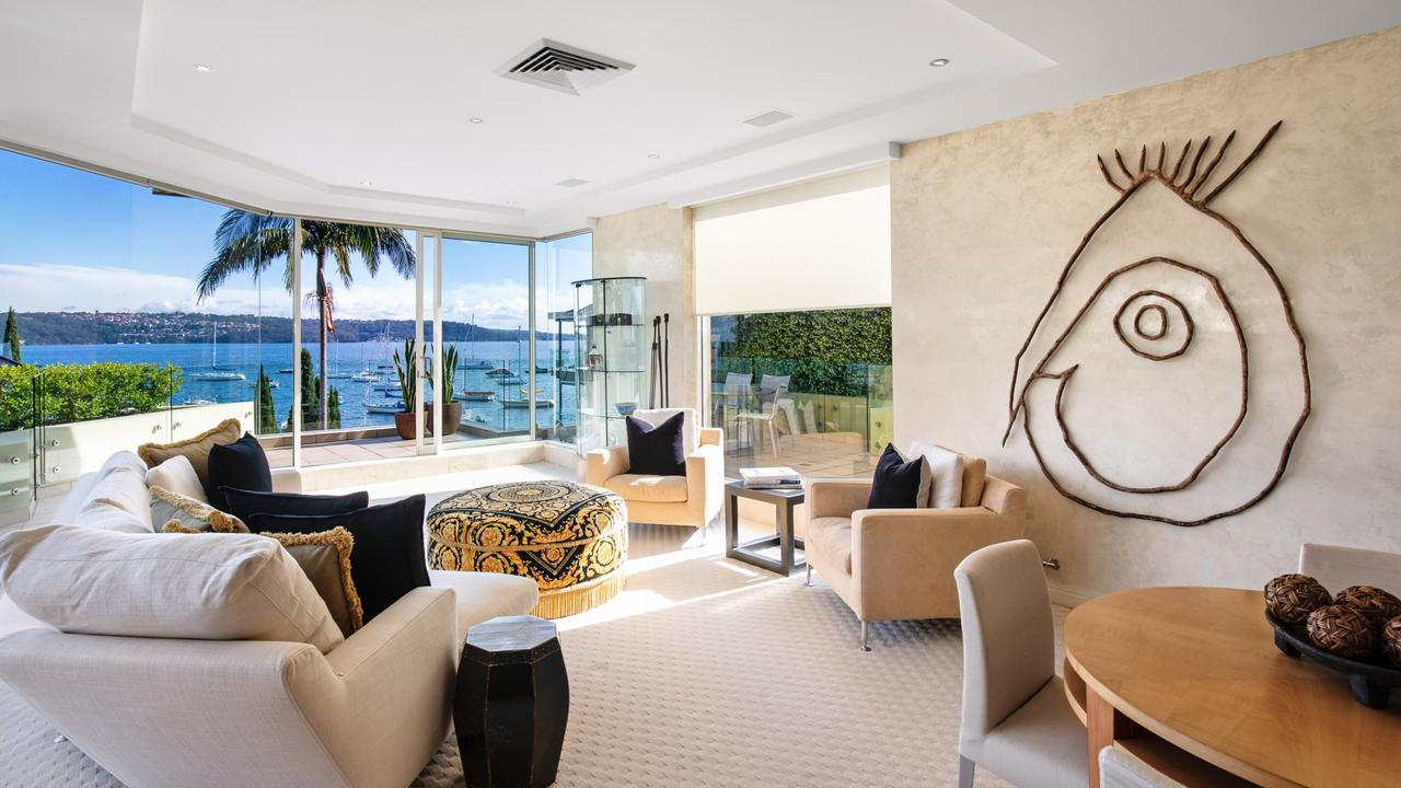 No. 3/10 Longworth Ave, Point Piper, passed in for $10.6m at the auction and sold later that night for an undisclosed figure.