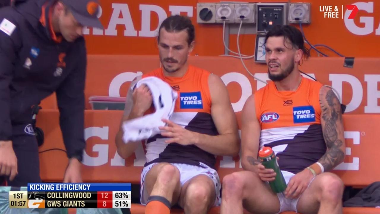 Giants' horror prelim injury woes continue as captain suffers scare