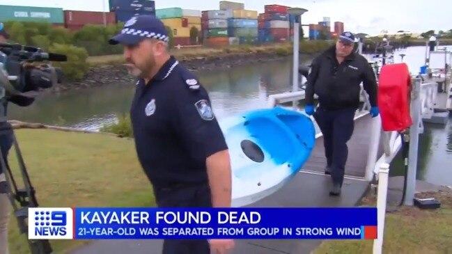 Moreton Bay missing kayaker found dead (9 News)