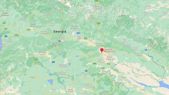 Shanae Brooke was last seen at the Church of Mikhail of Tver in the Georgian capital of Tbilisi. Photo: Google Maps