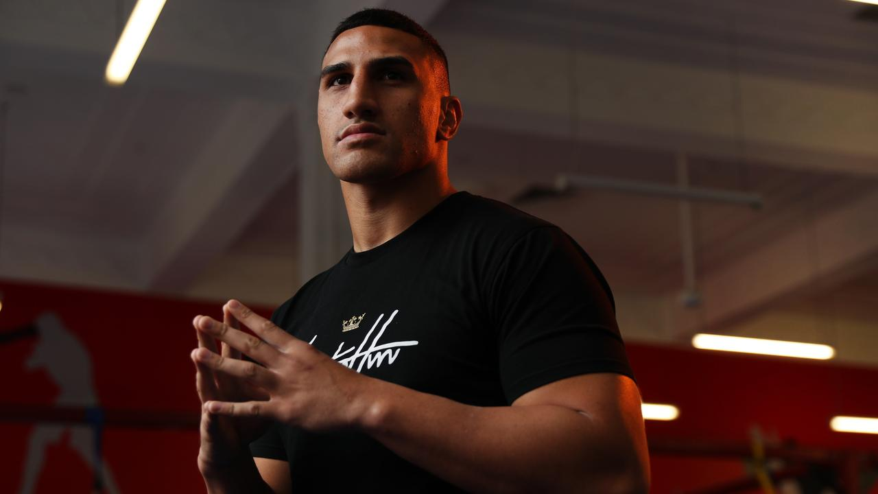 Justis Huni has a busy calendar of fights coming up starting with Christian Ennor followed by Paul Gallen and then the Tokyo Olympics. Picture: Richard Dobson