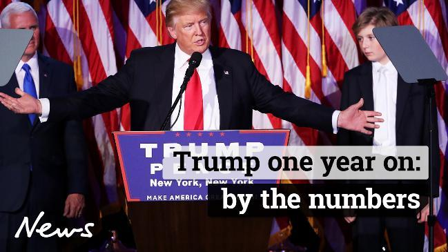 Trump one year on: by the numbers