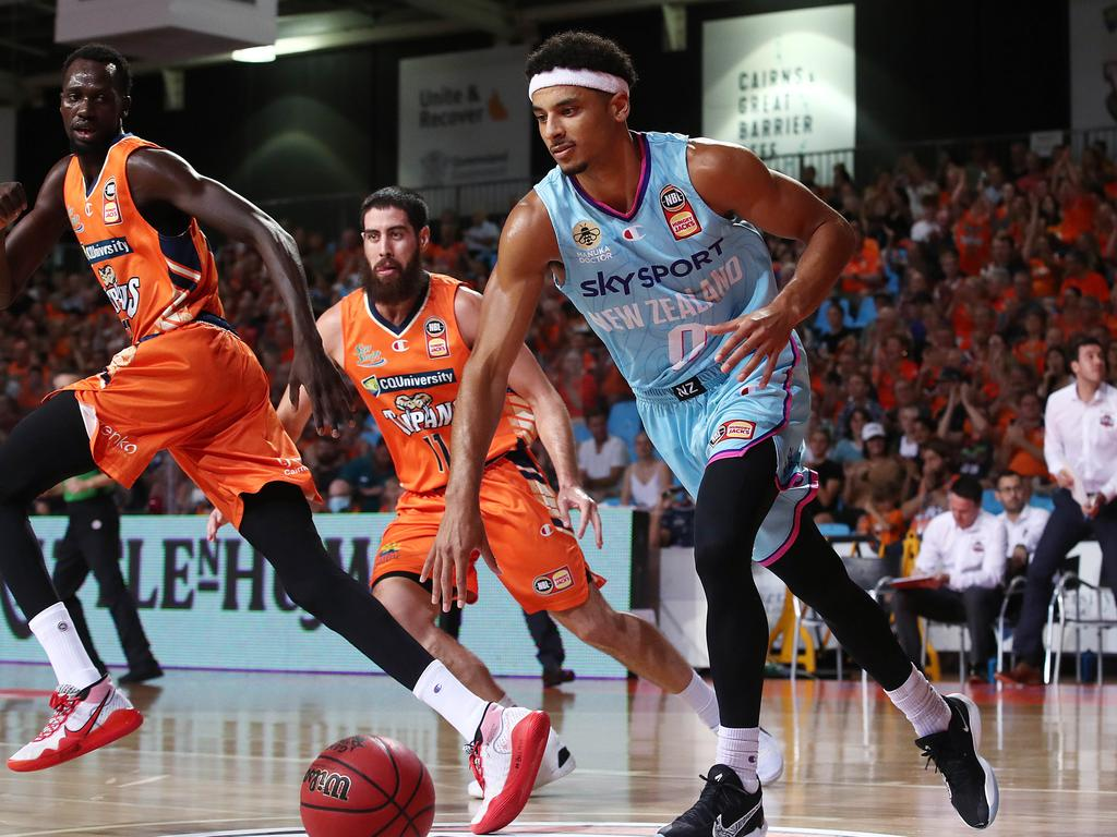 Tai Webster has been released from the New Zealand Breakers due to his Covid-19 vaccination stance. Picture: Brendan Radke