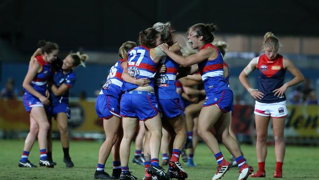 The Western Bulldogs have reached the AFLW grand final.