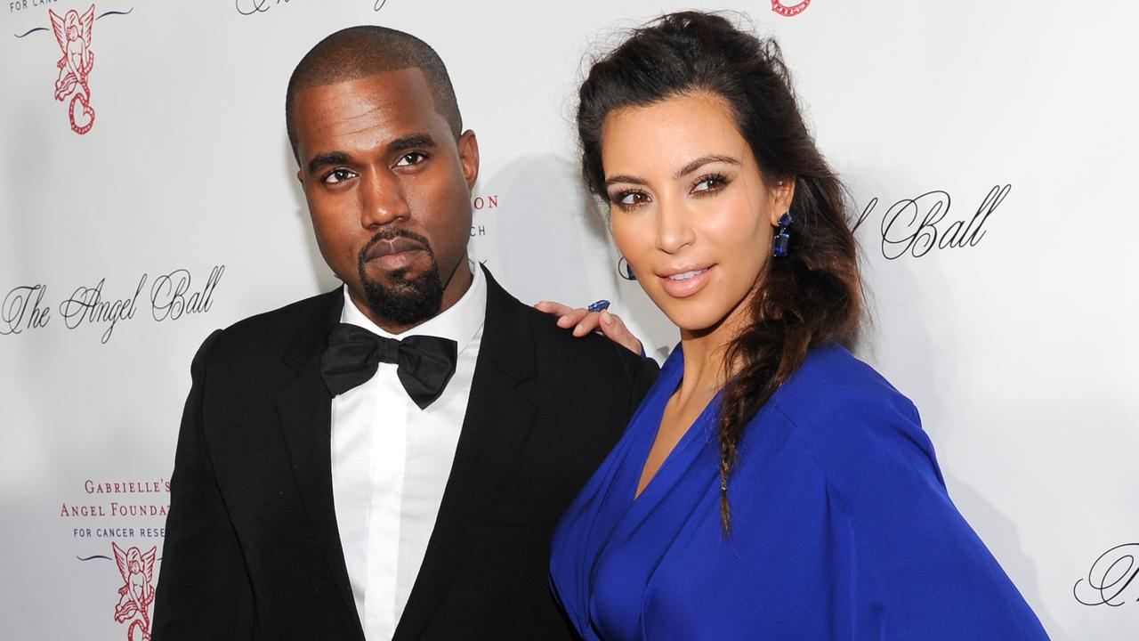 Kim and Kanye went public with their romance in 2012. Picture: AP Photo.